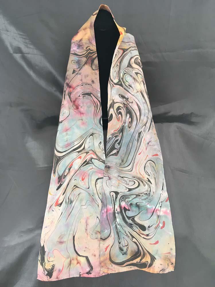 """#EAS-1115 Hobotai Silk Marbleized Shobori 8"""" x 72"""" $80.00"""