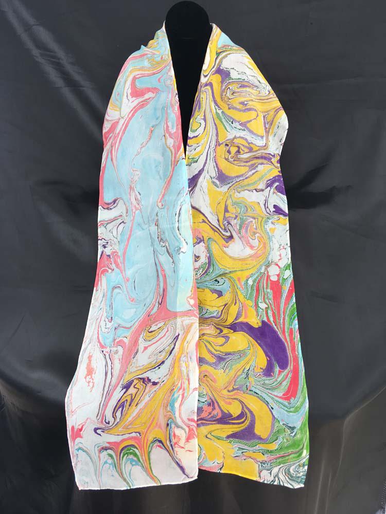 "#EAS-1151 Hobotai Silk Marbleized 8"" x 72"" $80.00"