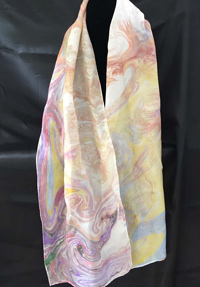 "#EAS-1157 Hobotai Silk Marbleized 11"" x 64"" $40.00"